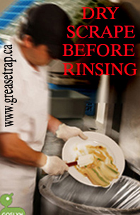 dry-scraping dishes